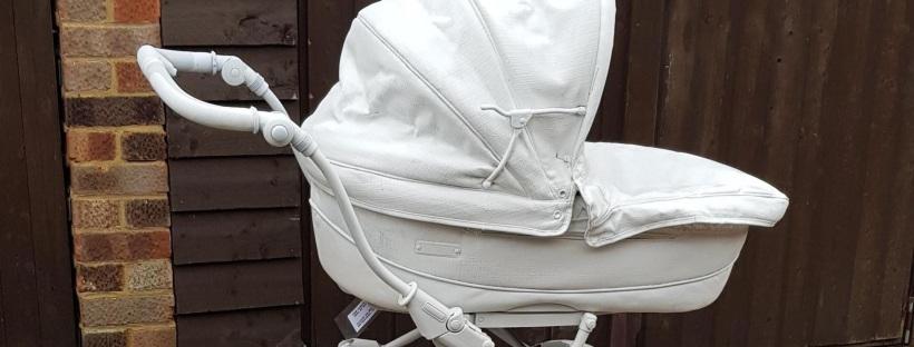 Pram painted white